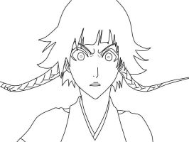 Soi Fon lineart by gamemaster8910