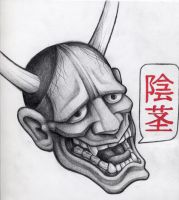 hannya mask no4 by dertodesking