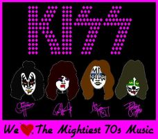 KISS We Love The 70s Music Vector by EspioArtwork31