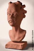 Head Clay Render Study by ajeffects