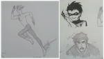Kid Flash's Running Wings and Hurt Superboy by ArtisticMii