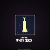 Kanye West - White Dress artwork by bloure