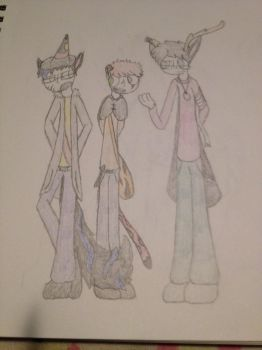 Charlie, Nathaniel, and Ryan by themightywolftiger