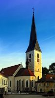 The village church of Zwettl a.d. Rodl by patrickjobst