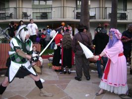 ALA 2012- Youmu vs the Daughter of the Dragon by Scarlet-Impaler