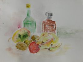 Water Colour Still Life I by DawnCR