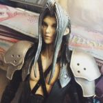Customised Play Arts Sephiroth by guineapiggin