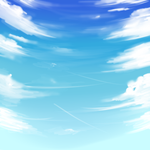 Blue Sky background by kittykoolkatz