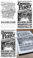 Letterpress Business Card 2010 by dpdagger