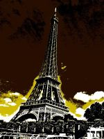 Yellow Eiffel Tower by Smilkman