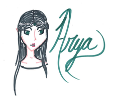 Arya in Marker by iridescentwings3911