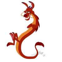 Mushu - Disney Dragon Collaboration by LeafFox