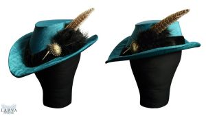 Elizabethan Riding Hat Side by Larva by Eisfluegel