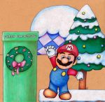 Super Mario Christmas by NickiDoodles