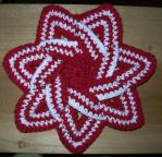 Crocheted Flower Hot Pad by woozalia