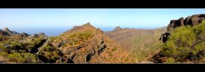 Mountains Over The Gorge Masca - Tenerife by skarzynscy