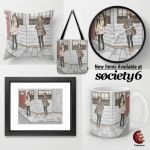 Promotion Society6 fashion Illustration by midnightc10