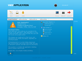 Web Application interface by simplexmedia