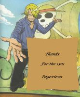 thanks for the pageviews with Sanji by zlizroswell