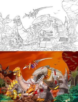 Dinobots by marvisionart