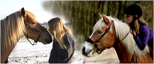 Me, my best friend and our horses by Esaqar