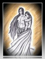 Sephiroth and Sunna by seralune