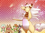 MEGA AMPHAROS by Dragonith