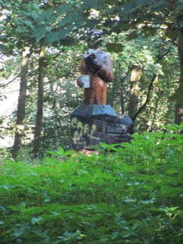 Sculpture in the woods by ownedsince82