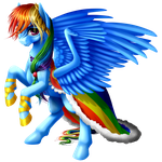 Gala Rainbow Dash by KittehKatBar