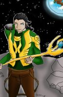 Loki ruling the world by ruzovymonster