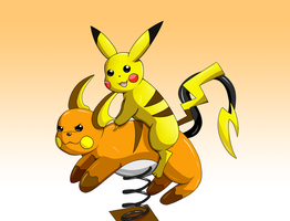 Free Raichu Rides! - Hard Shadows by snowyneko