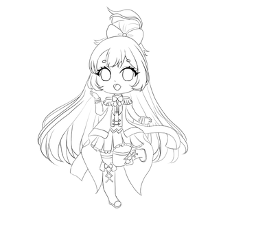 Lineart   Hime by Zoiven