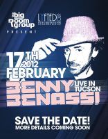 flyer for benny benassi by sounddecor