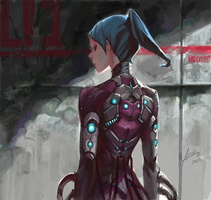 Cybernetic suit by asuka111
