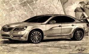 Korean Excellency, Kia Cadenza Luxury Sedan by toyonda