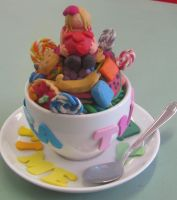 Candy Mountain- Clay Scuplture by Shinigamichick39