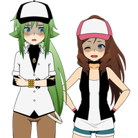 Pokemon - Kisekae - N and Touko Remakes by Xx-Chellie-Bellie-xX