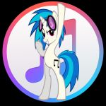 Updated iTunes Vinyl Scratch (mlp icon) by thefray0190