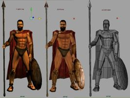 king leonidas 3d game model_2 by cavalars