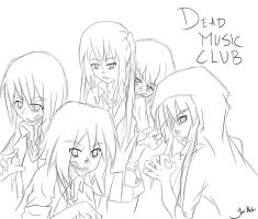 Dead Music Club _K-ON-Zombies_ -sketch- by jaja-sick-bear