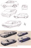 Car sketches by AlexandrVirus