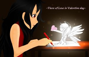 Piece of love in Valentine day by LizhKozouka