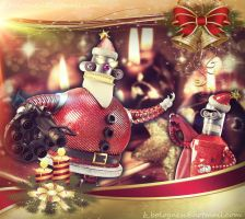 Robot Santa Christmas Card by Bman2006