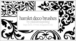 Hamlet Deco Brushes by cherryblossomchaos