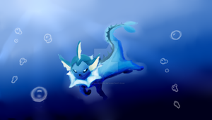 Pokemon : Vaporeon by IceCremeCake