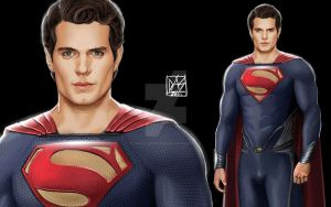 Henry Cavill as Superman by daniel-morpheus