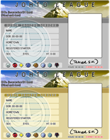 JOHTO Trainer License Templates by pettyartist