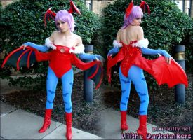 Lilith Cosplay Front and Back by pixiekitty