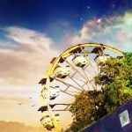 Beautiful Sunset Carnival Ferris Wheel by Kantiki