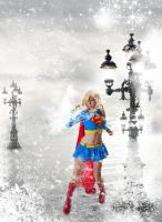 supergirl snowstorm by editingninja